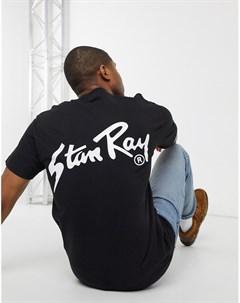 Черная футболка с принтом на спине OG Stan ray®