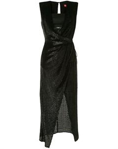 Фактурное платье с запахом Manning cartell
