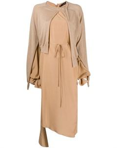 Многослойное платье асимметричного кроя Rokh