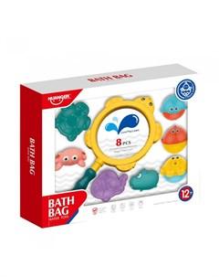 Набор игрушек для ванной Морские обитатели 8 шт Haunger