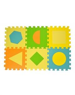 Игровой коврик Пазл Фигуры 6 деталей 30х30х1 5 см Forest