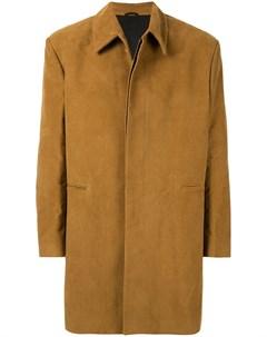 Пальто с нашивкой Raf simons
