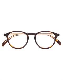 очки в оправе черепаховой расцветки David beckham eyewear