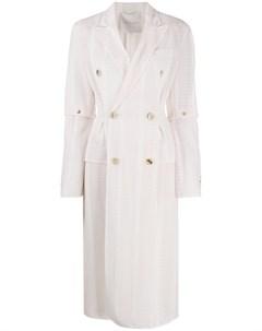 двубортное пальто в полоску Marco de vincenzo