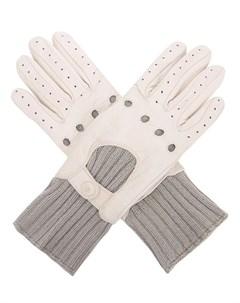 Перчатки из кожи и кашемира Malo