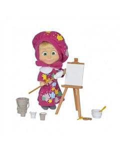 Игровой набор Кукла Маша в одежде художницы с набором для рисования Simba
