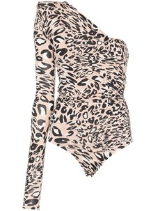 боди на одно плечо с леопардовым принтом Alexandre vauthier