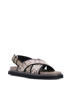 сандалии с перекрестными ремешками и принтом Just cavalli