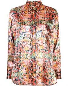 рубашка Sander с крокодиловым принтом Sies marjan