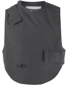 жилет с вышивкой и логотипом Heliot emil