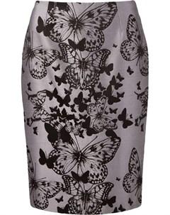 жаккардовая юбка с принтом бабочек Martha medeiros