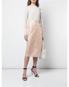 Кружевная юбка с эффектом ламинирования Yigal azrouel