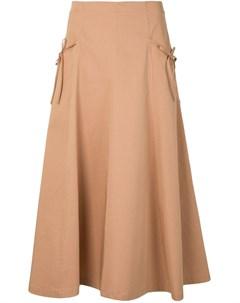 расклешенная юбка с завышенной талией Vivetta