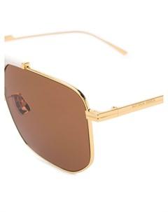 Солнцезащитные очки BV1036S в шестиугольной оправе Bottega veneta eyewear
