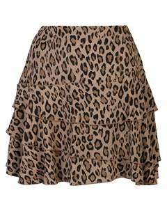 юбка А силуэта с леопардовым принтом R13