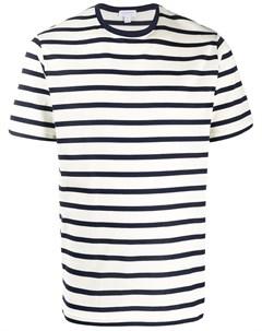 Полосатая футболка с круглым вырезом Sunspel