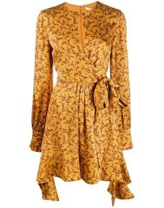 Платье с принтом и оборками Jonathan simkhai