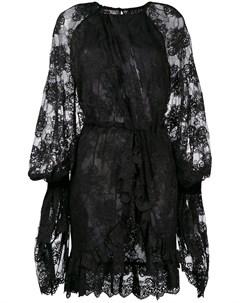 Асимметричное кружевное платье Christian pellizzari