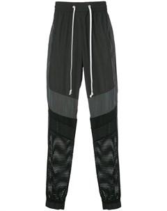 Спортивные брюки с сетчатыми вставками God's masterful children