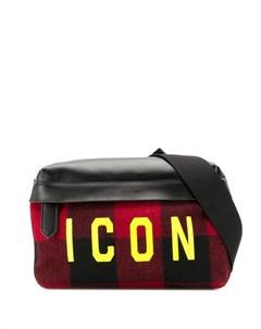 поясная сумка Icon в клетку Dsquared2
