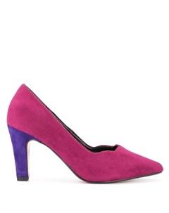туфли на контрастной каблуке Loveless