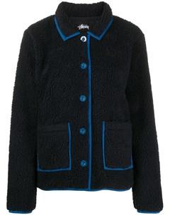 двухцветная флисовая куртка Stussy