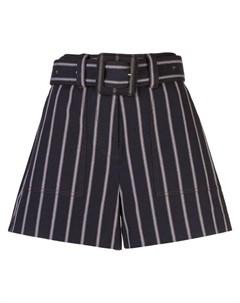 шорты в полоску с поясом Derek lam 10 crosby
