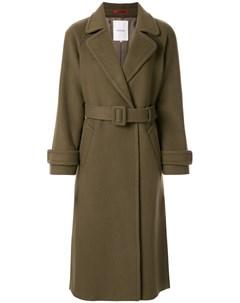 однобортное пальто с поясом Loveless