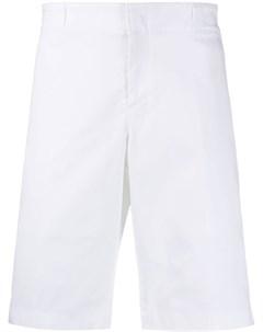 шорты бермуды с нашивкой логотипом Prada