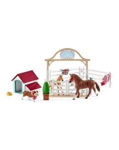 Игровой набор Лошади для гостей Ханны с собакой Руби Schleich