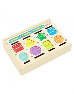 Деревянная игрушка сортер Учим формы и цвета Alatoys