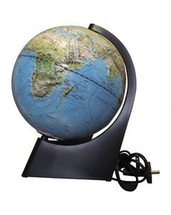 Глобус физико политический рельефный 21 см с подсветкой Глобусный мир