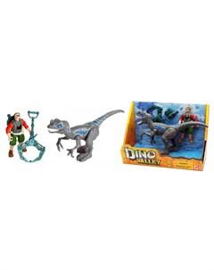 Игровой набор Мегалозавр и охотник со снаряжением Chap mei