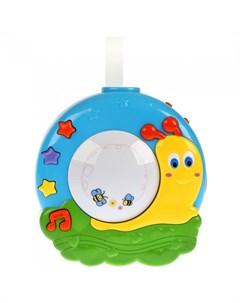 Подвесная игрушка Музыкальный ночник с проектором Улитка Умка