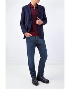Джемпер поло из кашемира и шерсти с геометрическим принтом Bertolo cashmere