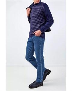 Джемпер из кашемира и шерсти с ромбическим принтом Bertolo cashmere