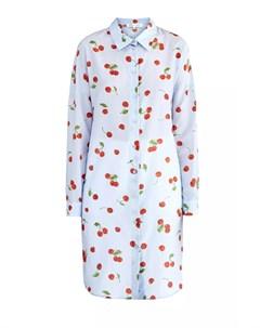Платье рубашка из хлопкового муслина с волокнами шелка и принтом Alexander terekhov
