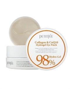 Патчи для глаз с коэнзимом collagen co q10 hydrogel eye patch Petitfee