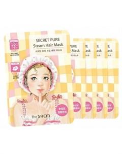 Маска паровая для поврежденных волос the saem secret pure steam hair mask The saem