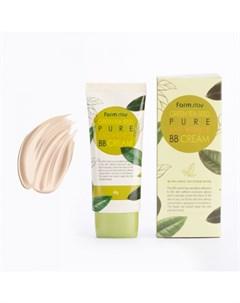 Разглаживающий бб крем с семенами зеленого чая farmstay green tea seed pure anti wrinkle bb cream Farmstay
