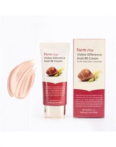Восстанавливающий бб крем с экстрактом улитки farmstay visible difference snail bb cream spf40 pa Farmstay