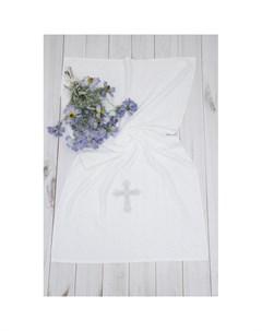 Крестильное полотенце с крестом 130х70 12 703 Alivia kids