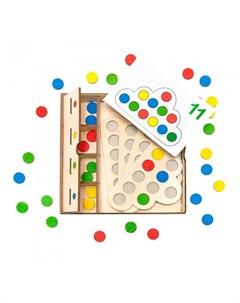 Деревянная игрушка мозаика сортер Облака с карточками Нумикон
