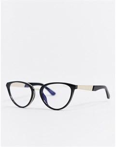 Черные очки в оправе кошачий глаз Quay australia