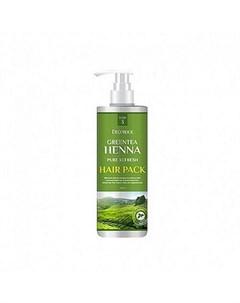 Маска для волос с зеленым чаем и хной deoproce greentea henna pure refresh hair pack Deoproce
