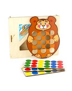 Мозаика Медведь Woodlandtoys