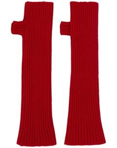 длинные перчатки митенки Filato Plan c