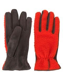 перчатки со вставками Dell'oglio