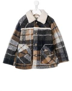 пальто с воротником из овечьего меха Douuod kids
