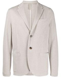 Однобортный пиджак из пике Harris wharf london